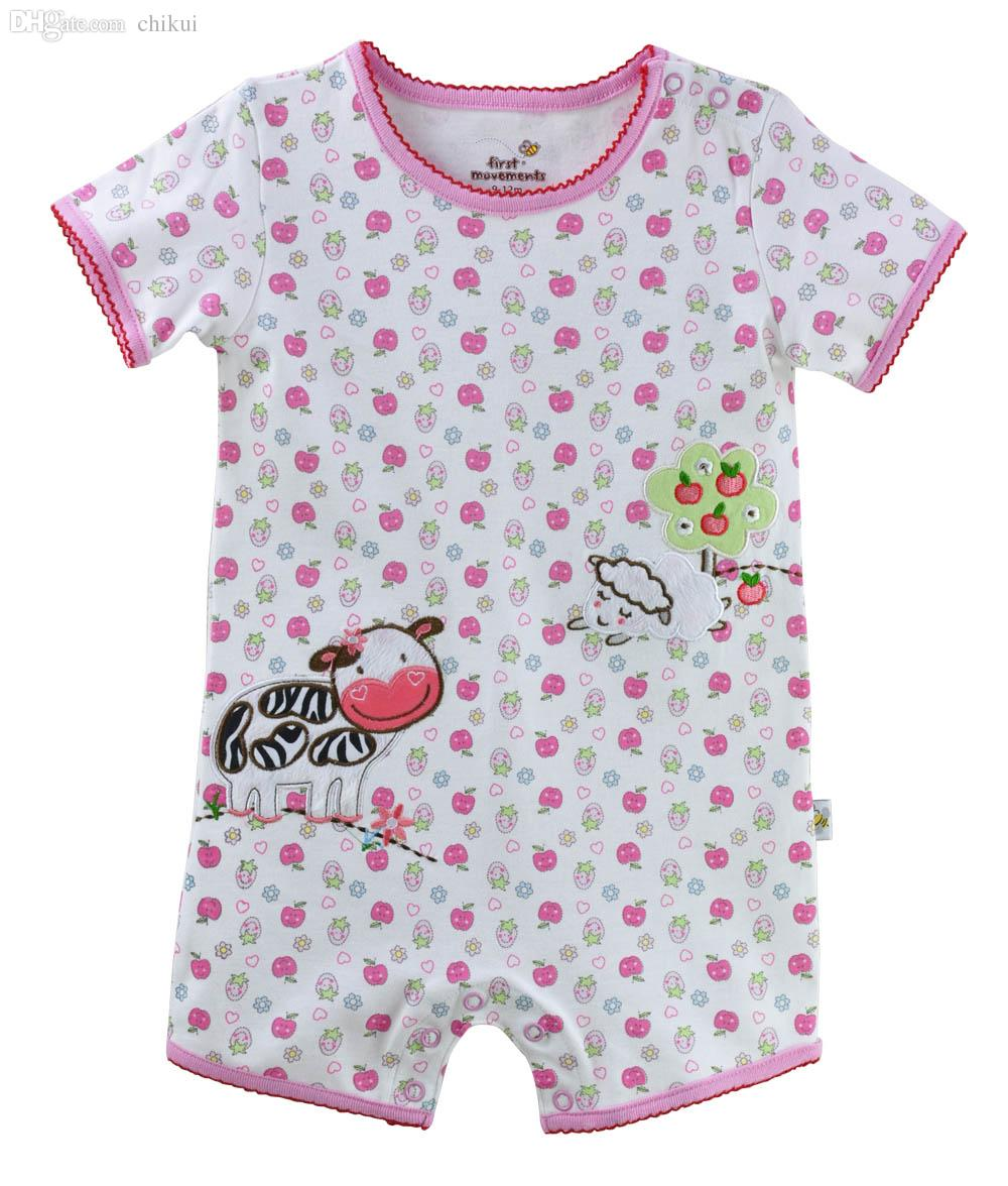 27d6224855db Wholesale-First Moments Baby Girls Rompers Milk Jumpsuits Farm Baby ...