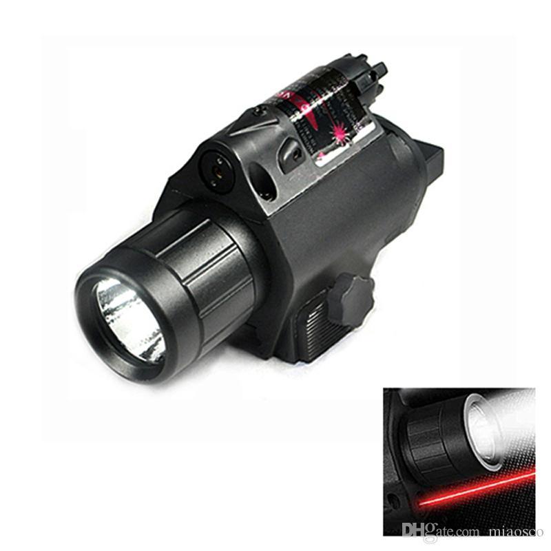 الصيد في الهواء الطلق 200 شمعة الصمام مصباح يدوي التكتيكية بندقية ضوء بندقية مع الليزر الأحمر و 20 ملليمتر picatinny السكك الحديدية جبل.