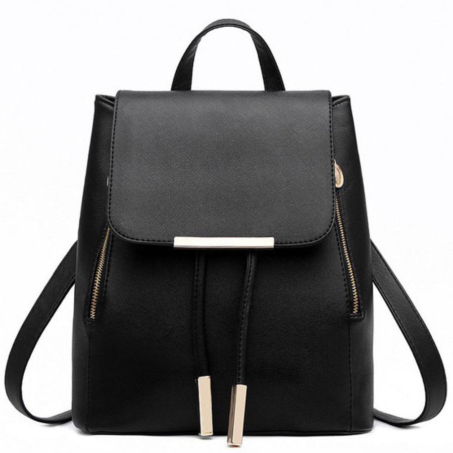 Acquista 2017 Nuove Donne Zaini In Pelle Da Viaggio Nero Blu Colore Big  Simple Ladies Borse Zaino Femminile Zaini Schoolbags Borsa A Tracolla  Mochila A ... 2fb6ffd3397