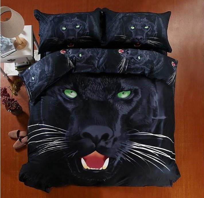 3d Black Panther Bedding Sets California King Quilt Duvet