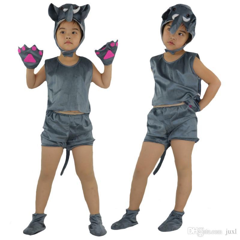 c90da891836 2018 Kids Children Short Animal Elephant Costume Stage Perfromance Cosplay  Clothing Halloween Birthday Fancy Dress Supplies Theme Costume Cosplay  Costume ...
