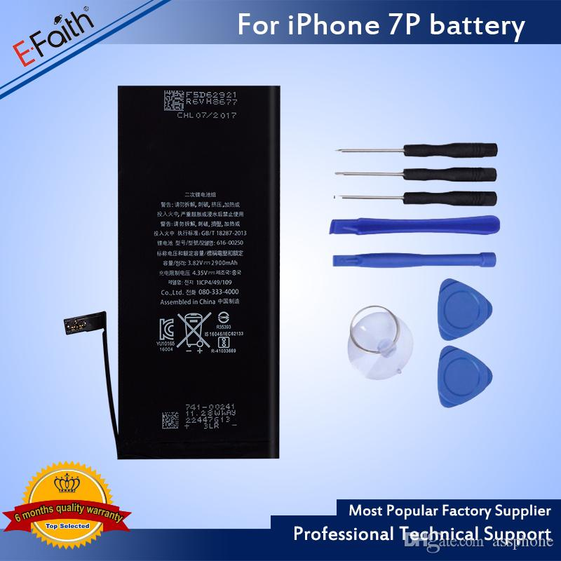 Wholesale 0 Cycle Higher Quality Internal Built-in Real Capacity Li-ion Replacement Battery For iPhone 7 7G /7 Plus & Free UPS Shipping