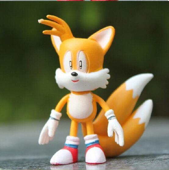 1 Takım Perakende 6 Adet / takım Anime Karikatür Sonic The Hedgehog Şekil Eylem Set Doll Oyuncaklar Ücretsiz Kargo