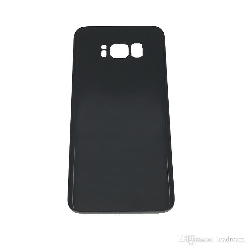 Pour Samsung Galaxy S6 S7 Edge S8 S6 Edge Plus Note 5 8 OEM Batterie Porte Arrière Logement Couvercle Couvercle En Verre avec Adhésif Autocollant Noir Couleur