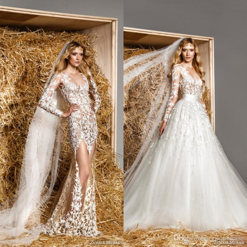 Discount Zuhair Murad 2015 Long Sleeve Wedding Dresses With ...