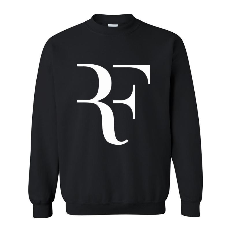 New Fashion Roger Federer RF Men Casual Round collar Long Sleeve Cotton Mens fleece Hoodies Sweatshirts Man Clothing free drop shipping