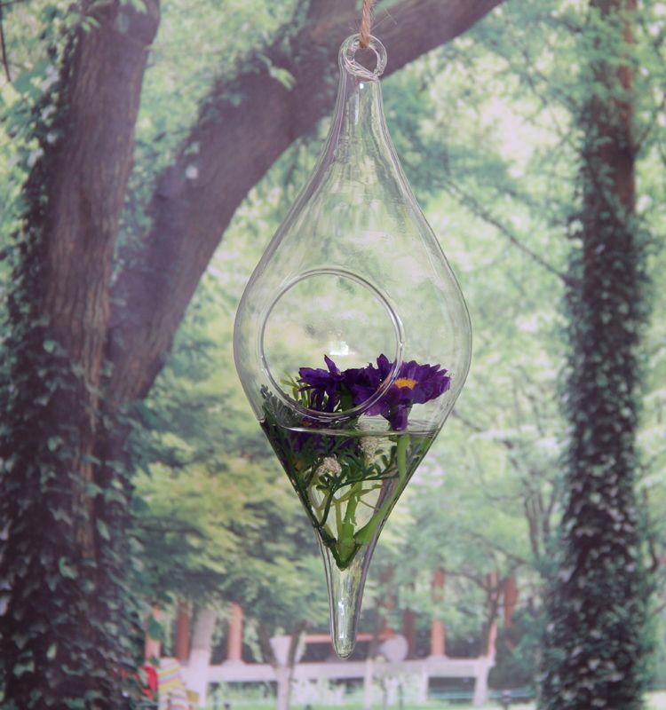 Of 2 Olive Shaped Moss Succulent Terrarium,Hanging Planter Vases For ...