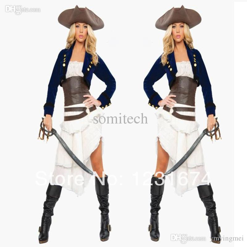 wholesale halloween costume goth queen cosplay costume caribbean pirate costume female captain evil game club stage costume aliexpress aliexpresscom online