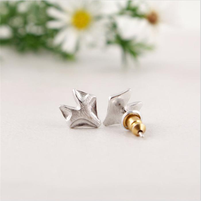 Stylish Fox Ear Studs for Women 18K Gold Plated Silver and Rose Three Color Optional