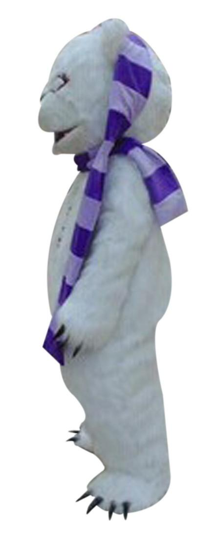 White beggar bear Mascot Costumes Cartoon Character Adult Sz 100% Real Picture