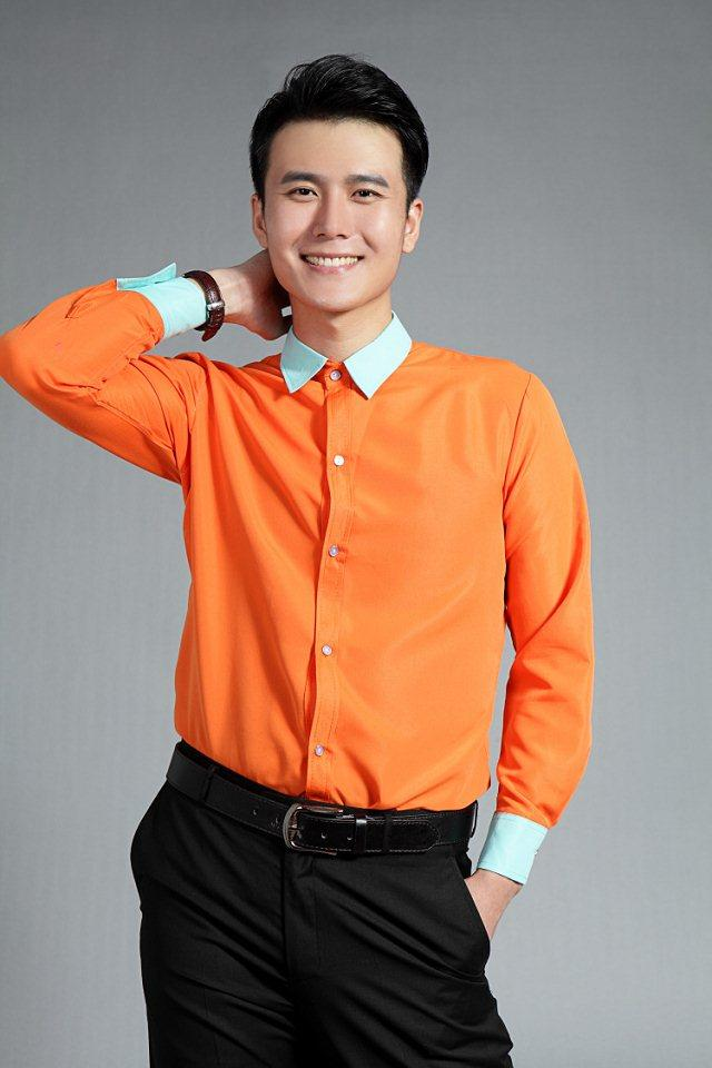 2015 Newest Orange Mens Prom Shirts Generous Tuxedos Shirts Normal ...