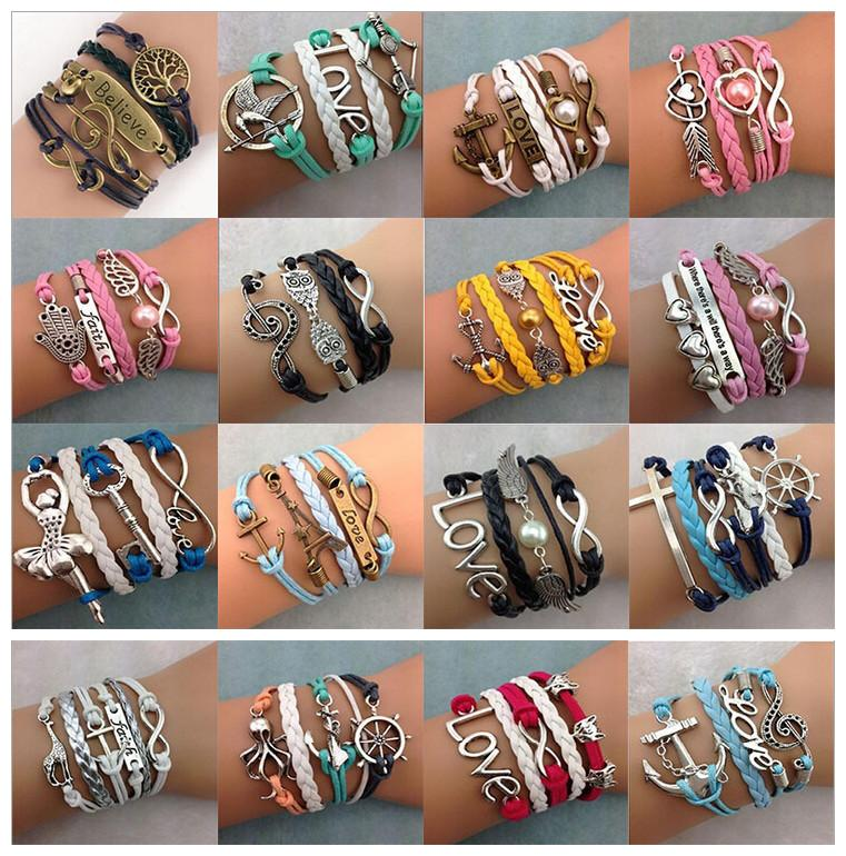 Diy Infinity Charm Bracelets Antique Cross Bracelets Hot Sale 55