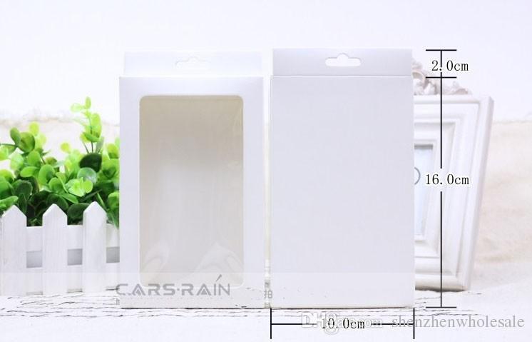 Date boîte de paquet de papier vierge pour Samsung Galaxy S2 3 4 Note Xiaomi 3 Housse en cuir Cover Retail Packaging sans impression
