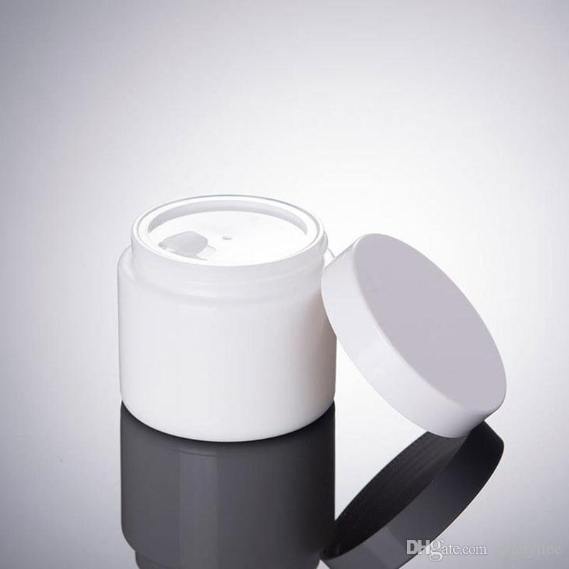 100G white glass Jar,cosmetic glass bottle,makeup cream bottle with white cap fast shipping F20172380