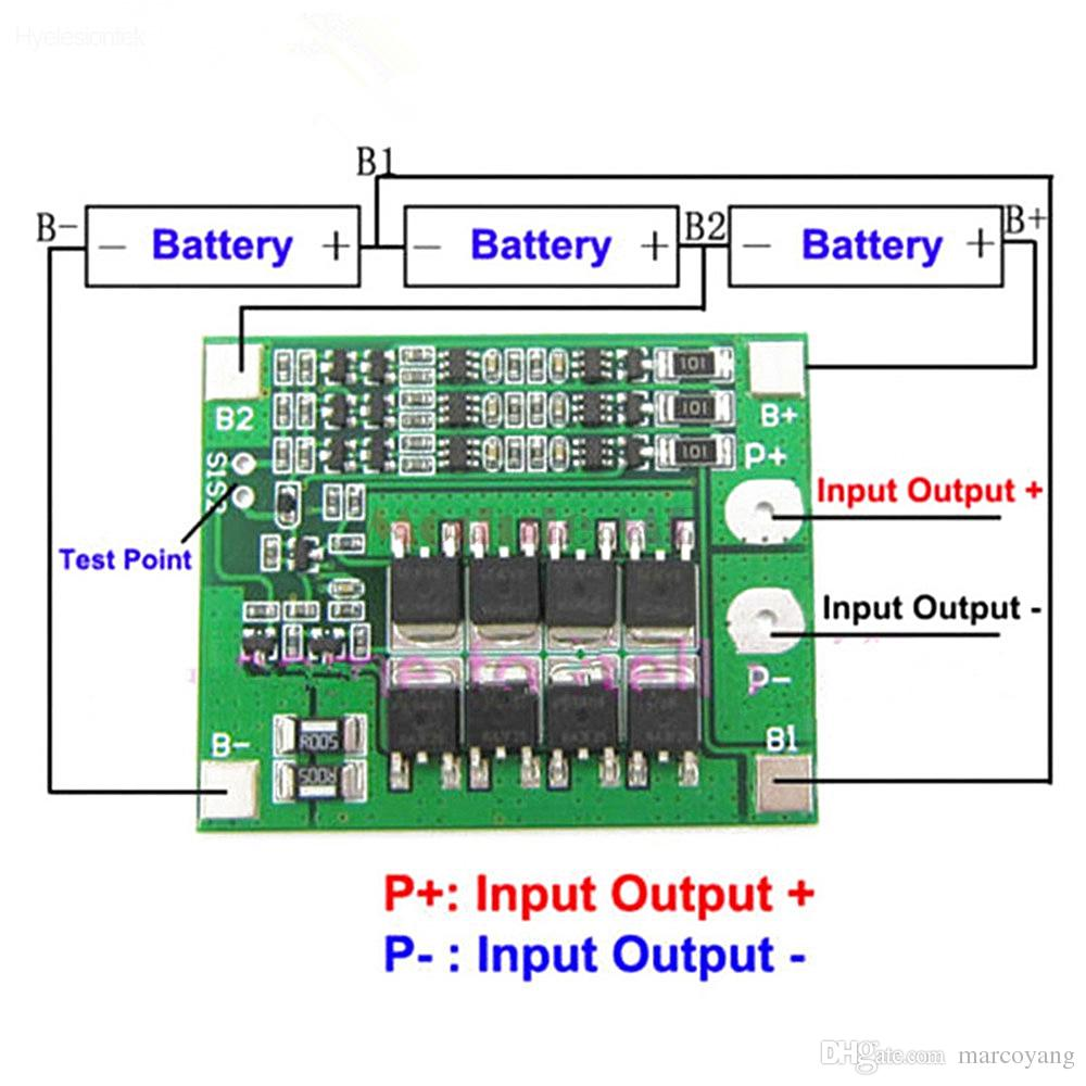 Schema Collegamento Bms : S a li ion lithium bms pcm battery charger