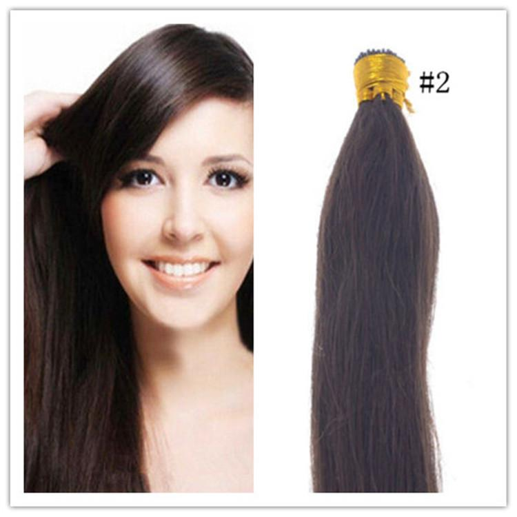 Cheap 100 Russian Virgin Human Hair Extensions Straight I Tip Hair