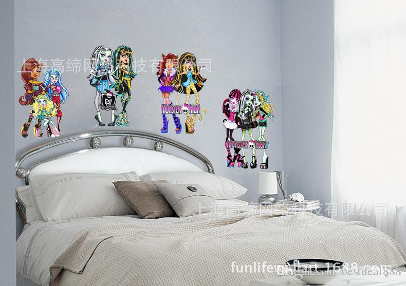 215 Hot Monster High Wall Stickers Giant Size Monster High Wall Decal Cartoon Stickers Removable Wall Art Removable Wall Art Decals From Bestdeal8888 ... & 215 Hot Monster High Wall Stickers Giant Size Monster High Wall ...