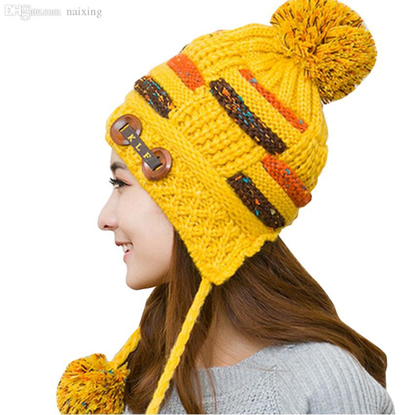 2317aa98 Wholesale-New Fashion Women's Hats Winter 2015 Warm Plus Velvet Cap ...