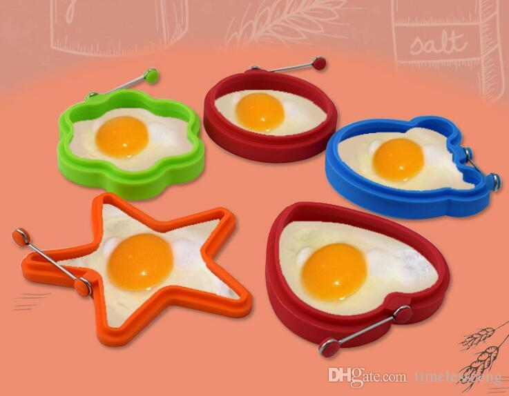 Silicone Egg Pancake Ring Creativo antiaderente Pentagramo Forma di orso Stampo in silicone la cottura della colazione Padella Forno Cucina
