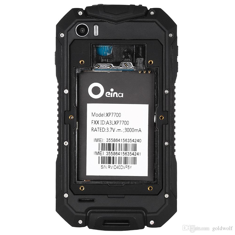 Originale Oeina XP7700 Android 5.1 Smartphone da 4,5 pollici 3G MTK6580 1,3 GHz Quad Core Mobile da 512 MB + 8 GB GPS anti-polvere / antiurto