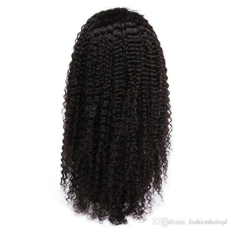 Kinky Curly Full Lace Human Hair Wigs For Black Women Cheap Indian Virgin Hair Lace Front Wigs With Baby Hair Pre Plucked