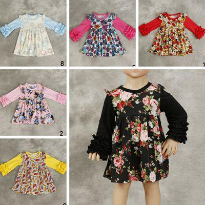 2018 2018 fall spring flower girls dresses baby boutique clothing 2018 2018 fall spring flower girls dresses baby boutique clothing kids ruffle sleeve dress cotton floral dresses toddler clothes wholesale hot from mightylinksfo