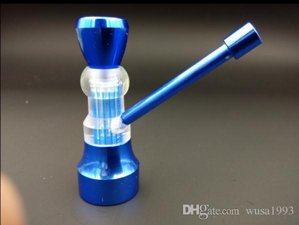 wholesalers ----- 2015 new Color portable metal Hookah / metal bong, water filtration, metal + plastic, color random delivery