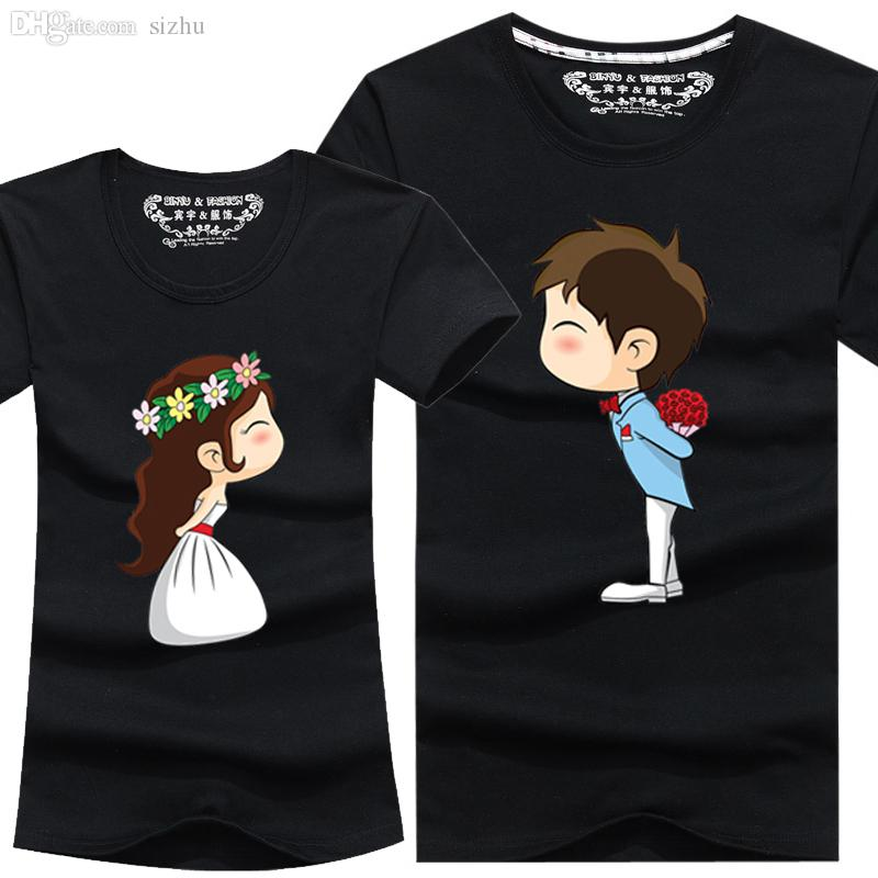wholesale new cartoon t shirt lovers clothes women s men s casual