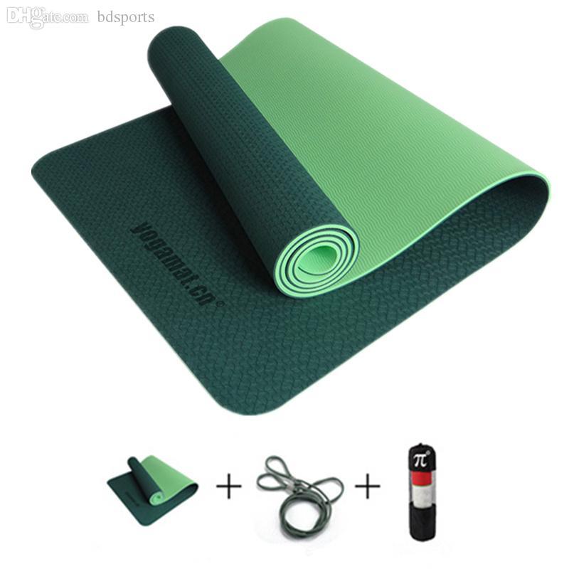 Wholesale-Yoga TPE Mats for Fitness Genuine Slip Yoga Mat 6mm Longer ... 479ed7516
