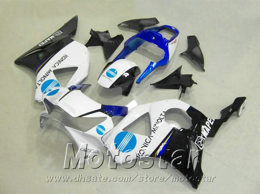 Injection molding for Honda cbr900rr fairings 954 2002 2003 white blue black motobike CBR900 954RR ABS fairing kit CBR954 02 03 YR22