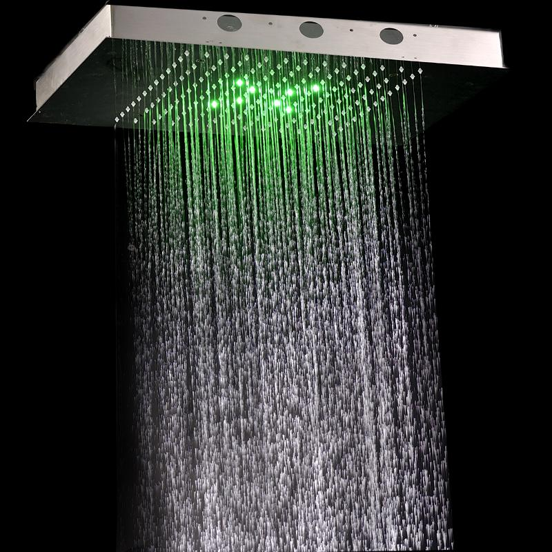 cheap rain shower head. 360X500mm Luxury Rectangular Rain Shower Head For Ceiling Mounted Bathroom  Led Online with 583 34 Piece on Pwbhil s Store DHgate com
