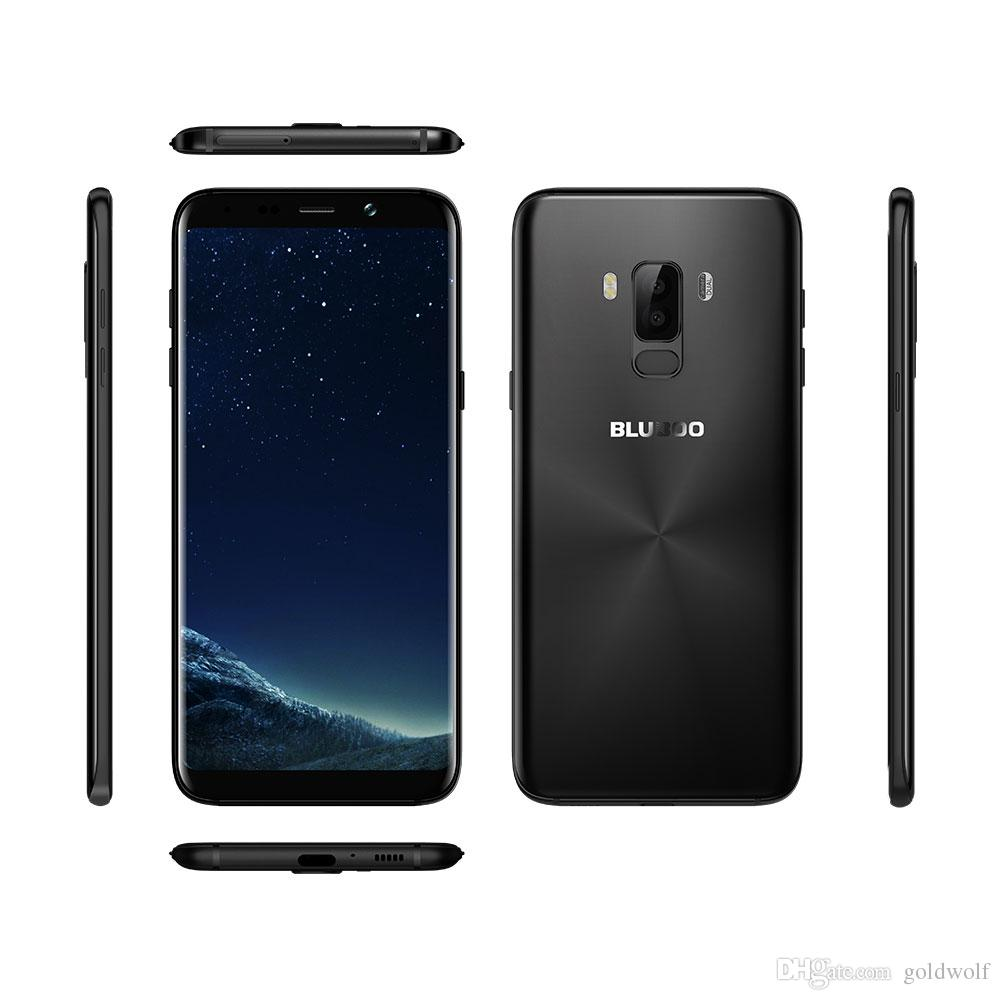 Original NUEVO BLUBOO S8 Plus 6.0 '' 18: 9 Smartphone MTK6750T Octa Core 4G RAM 64G ROM Android 7.0 Doble cámara trasera Huella digital Teléfono móvil