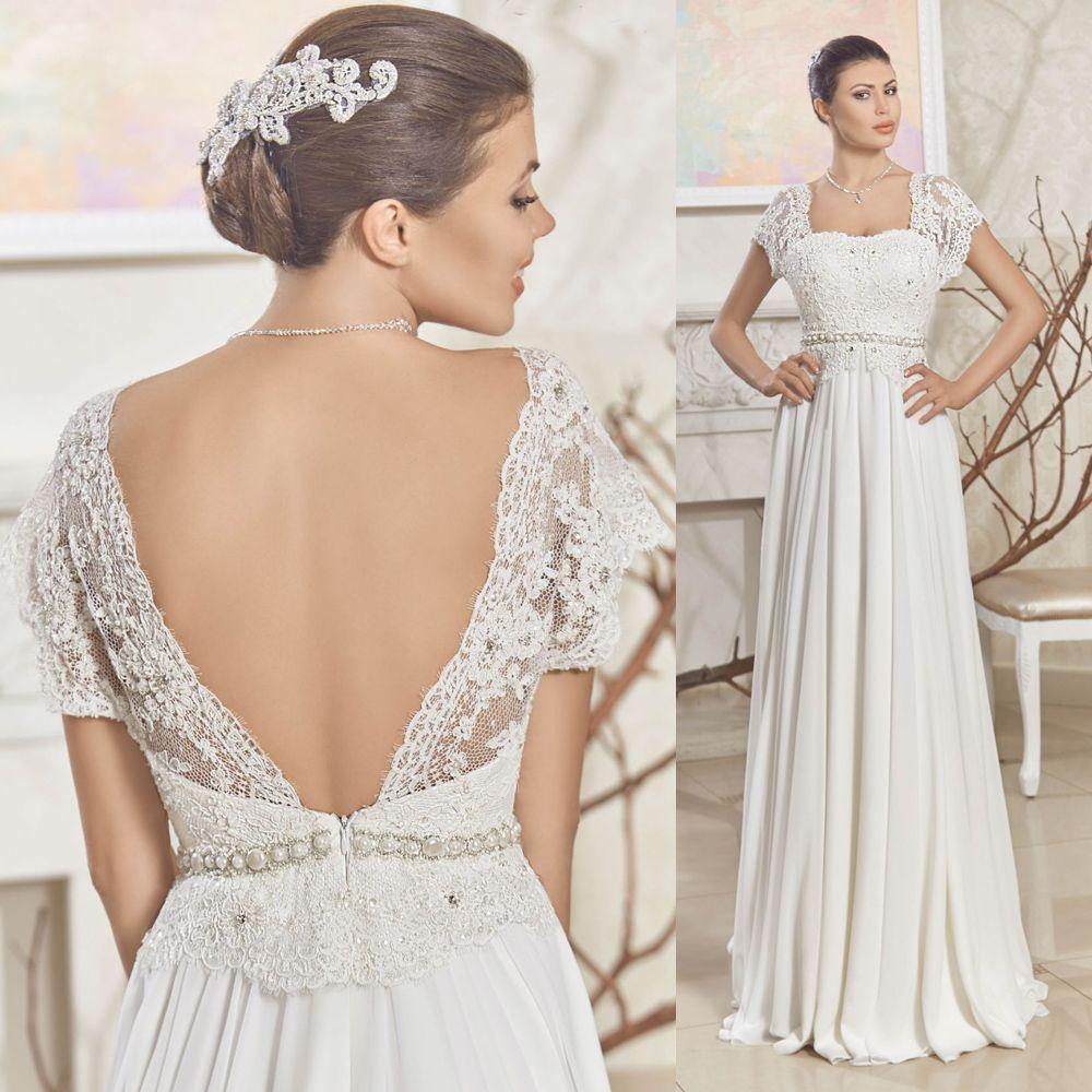 Summer Backless Pregnant Maternity Wedding Dresses 2015