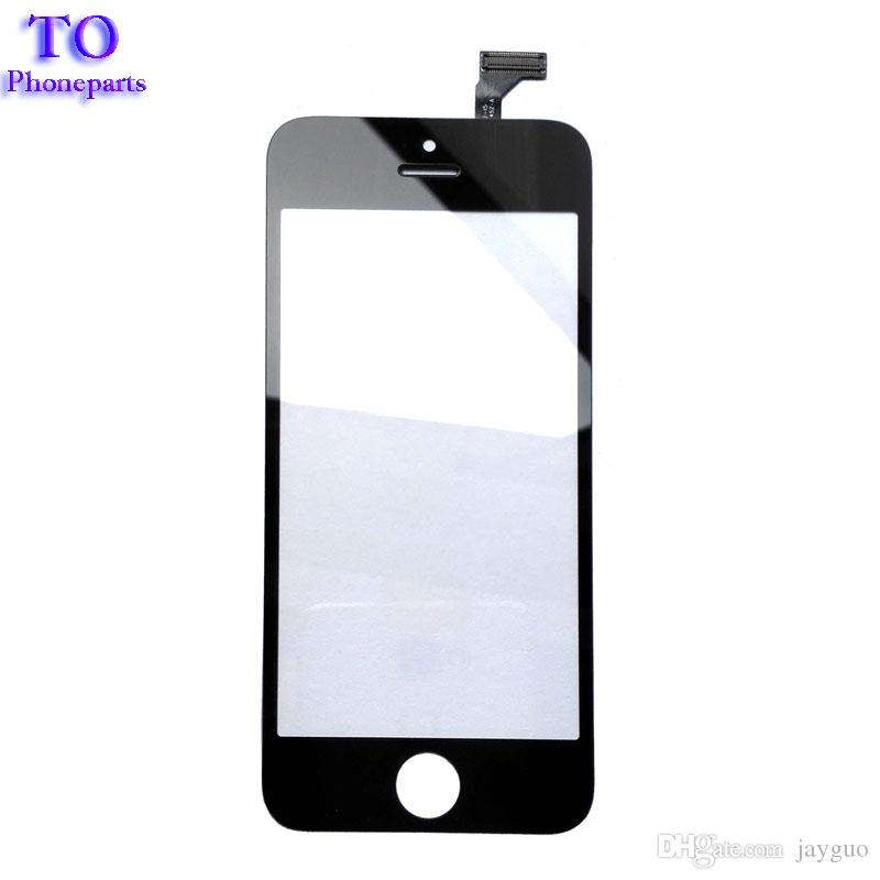 """High Quality 4.0"""" For iPhone 5 5G 5S 5C Touch Screen Digitizer Sensor Front Glass Lens Panel Black White"""