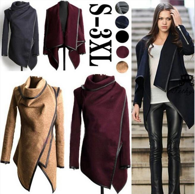plus size hot 2015 womens lady slim winter warm trench coat long