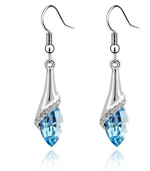 Neue Ankunft für neues Jahr Österreich-Zirkon-Kristallhalsketten- / Ohrringe / Armband-Schmucksachen stellt Diamant-Schuhschmucksachen Sätze ein Freies Verschiffen