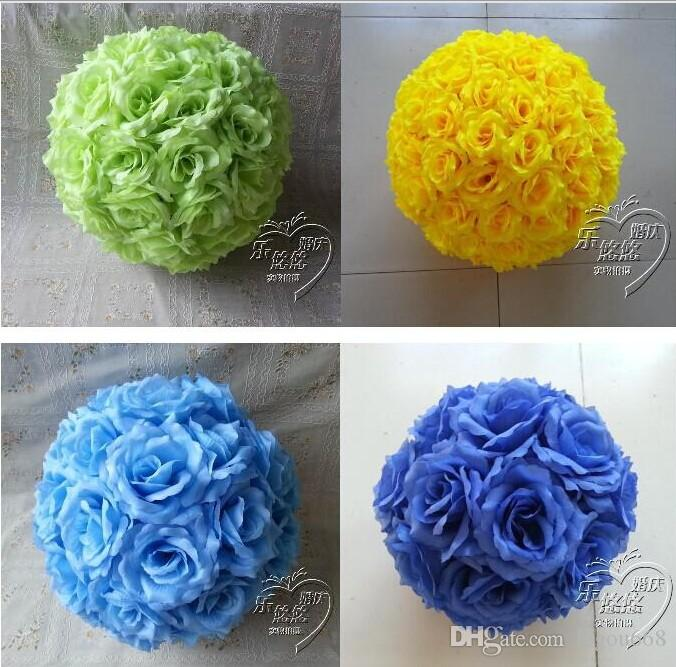"""6""""/15 CM Artificial Rose Silk Flower Kissing Balls White Flowers Ball For Christmas Ornaments Wedding Party Decoration New Arrival"""
