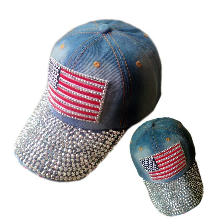 vanderbilt baseball hat american flag retro distressed crystal blue cap with patch
