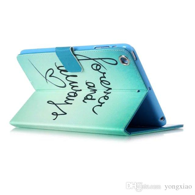 Para ipad mini 1/2/3 4 Samsung Tab A 8.0 T350 T230 Flower Cat Owl funda de cuero con soporte para ranuras para tarjetas