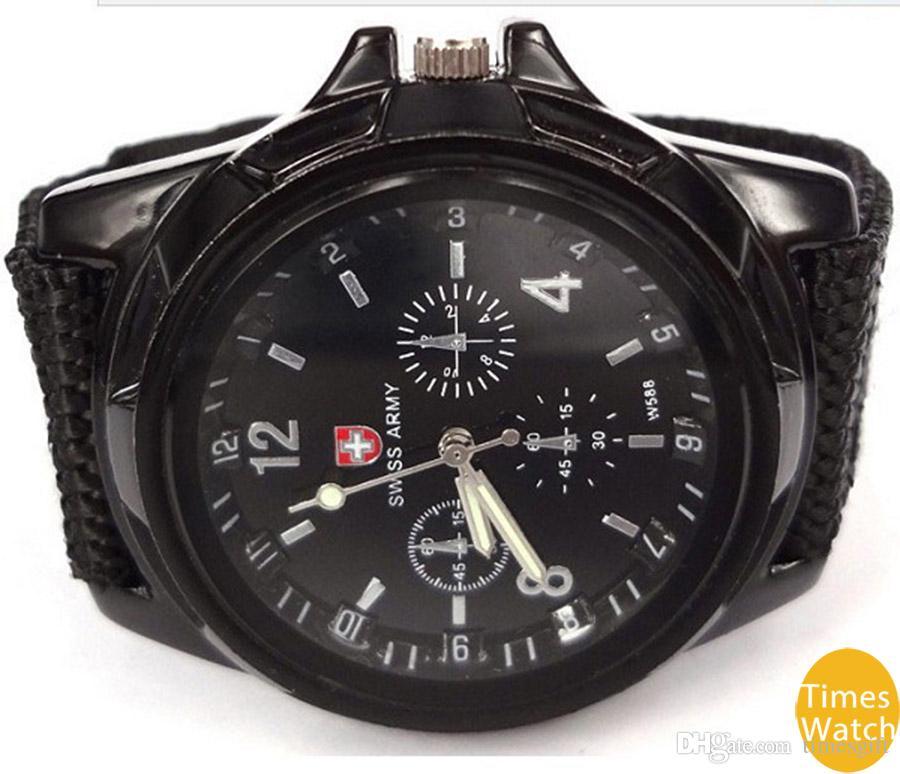 Горячие продажи мужская роскошь аналоговый новая мода Модный спорт военный стиль наручные часы швейцарская армия кварцевые часы бесплатная доставка