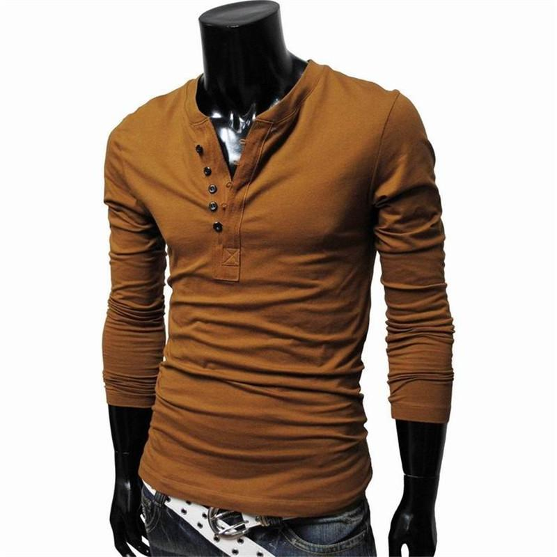 2016 Hot Autumn Fashion Brand Mens Long Sleeve T Shirt, Casual ...
