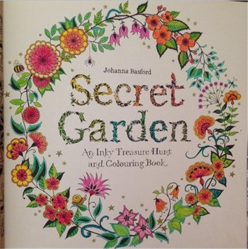 The Lastest 2015 Hot Secret Garden A Book Of Wonderful Relaxing To Relieve Stress By Johanna Basford For Kids Adult