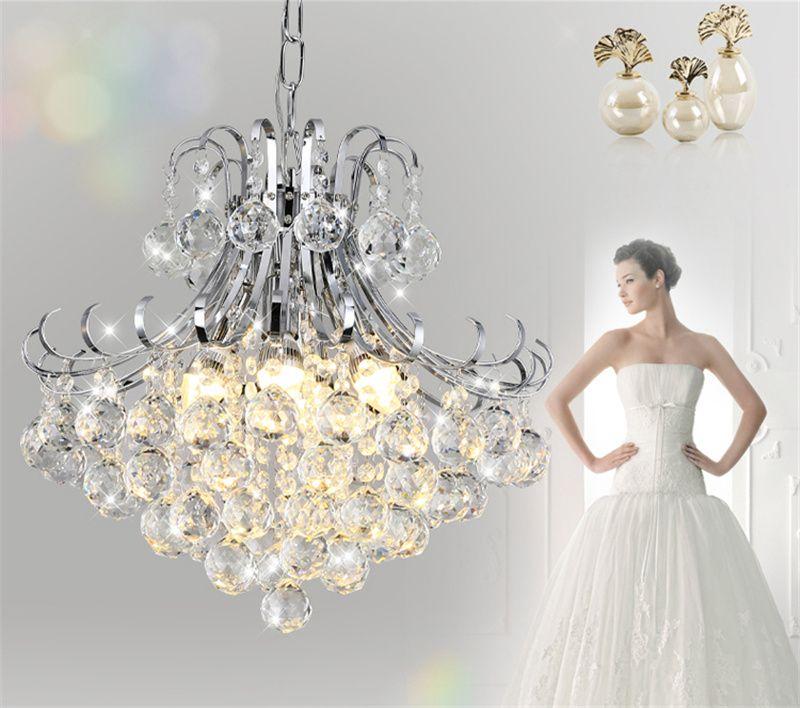Light Modern Vintage Chandeliers ceiling lamp 110V 220V LED Pendant Lamps Competitive E14 Crystal Hanging Lamp for Bedroom Hardware sj-002