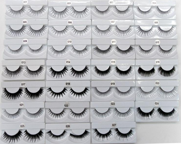 뜨거운 틀린 속눈썹 수제 자연 패션 완벽한 긴 두꺼운 속눈썹 가짜 눈꺼풀 확장 검은 테리어 풀 스트립 올가미 / set