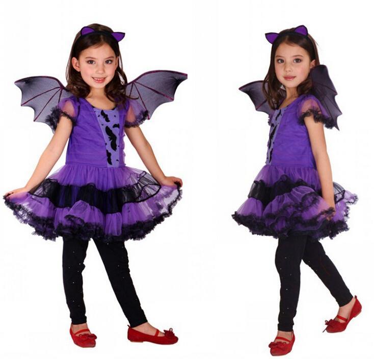 Compre Descuento Niños Trajes Chicas Sexy Halloween Carnaval Púrpura ...