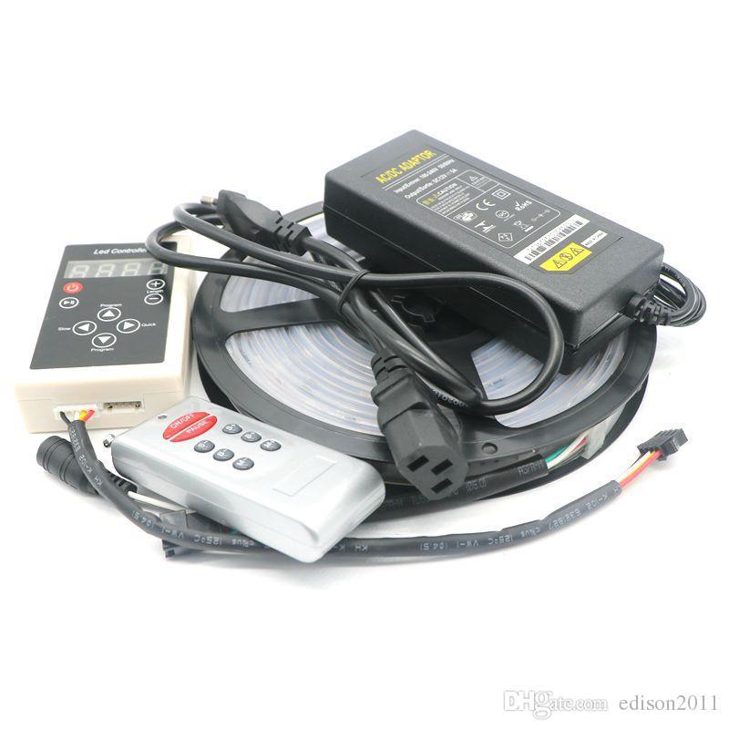 Edison2011 Magic LED Strip Couleur 6803 IC 5050 RVB DC12V Lumière 150 LED 5M étanche 133 Couleurs avec contrôleur + 5A Alimement
