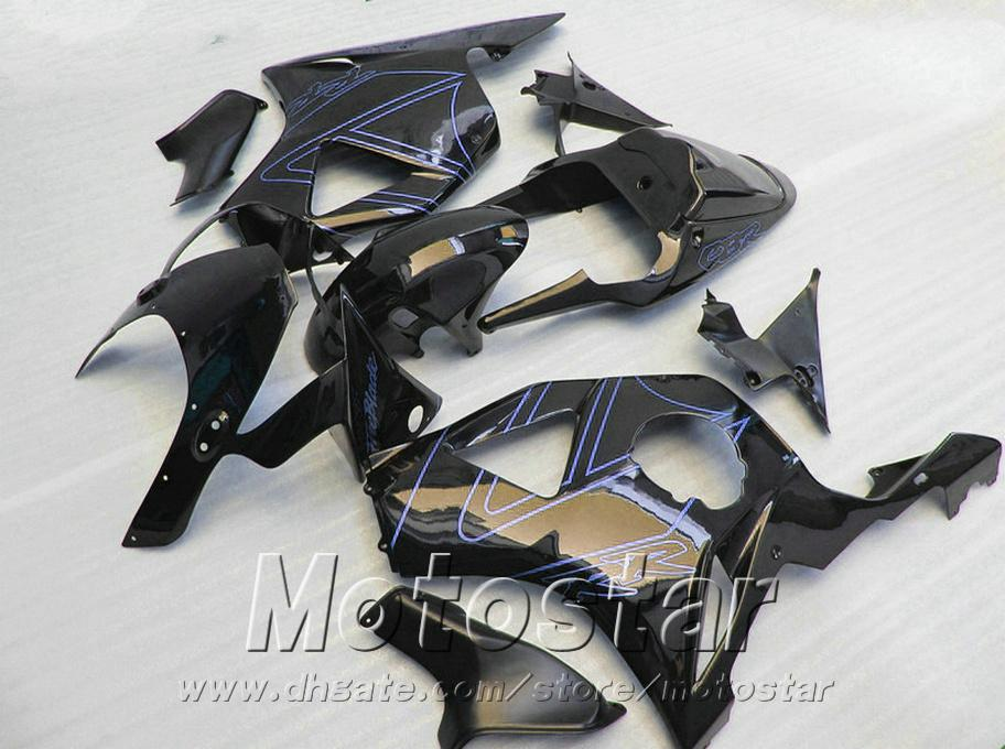 7 Free gifts + fairing kit for Honda Injection molding cbr900rr 954 2002 2003 CBR 900RR glossy black fairings CBR954 02 03 YR69