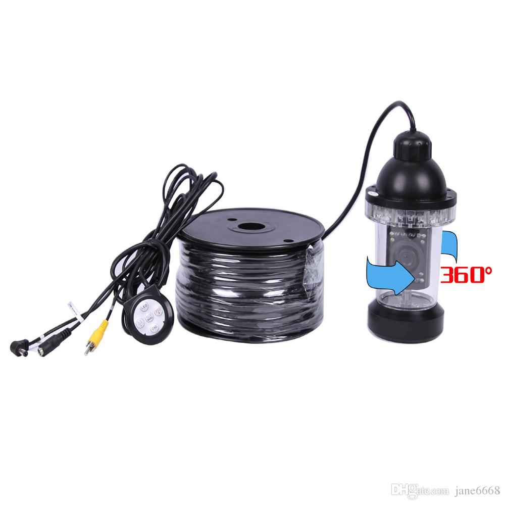 50Meters Depth 360 Degree Rotative Underwater Camera with of White or IR LED for Fish Finder & Diving Camera Application