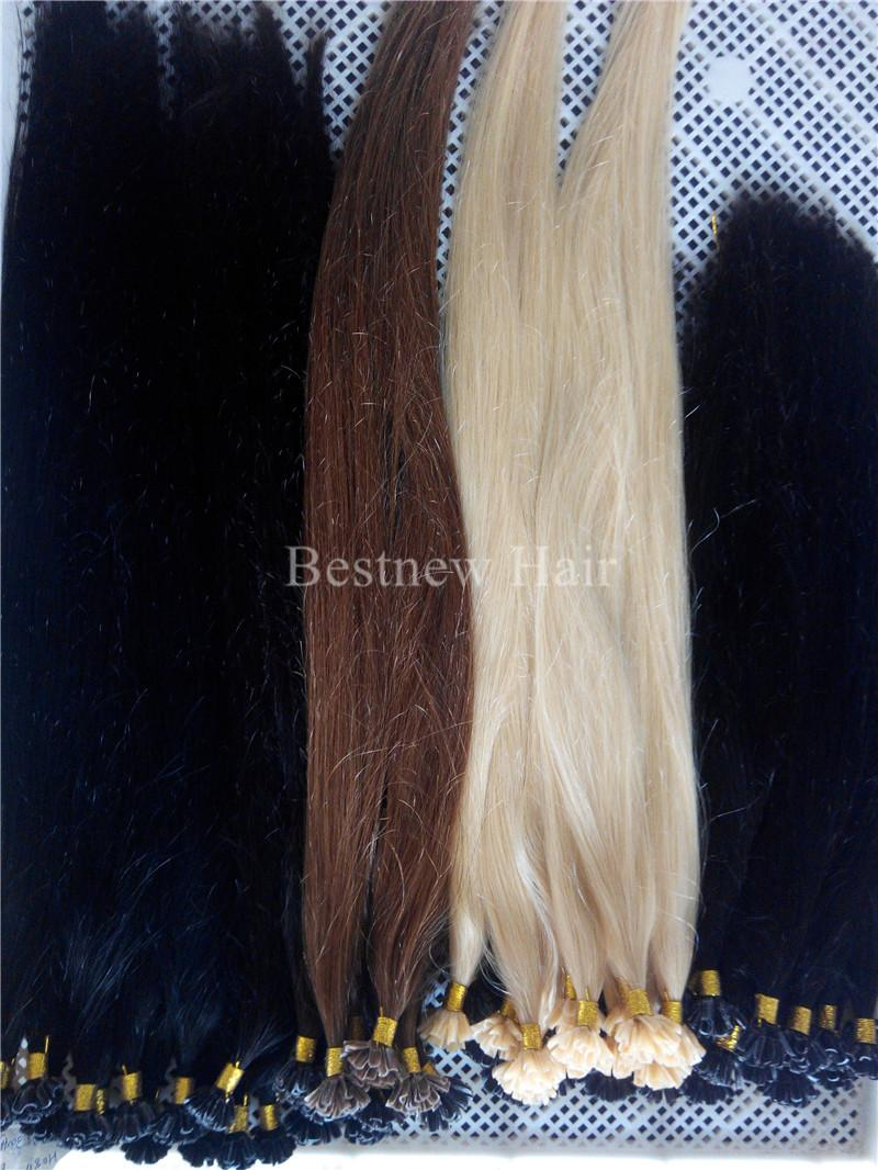 "LUMMY Prebonded Keratin Nail Tip U tip Fusion Indian Remy Human Hair Extensions 16""18""20""22""24"" 1g/s 100 s/pcs"