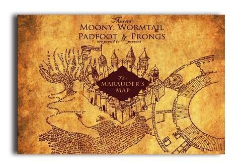 Marauder\'S Map Harry Potter 006 Poster/Print Poster Silk Wall ...
